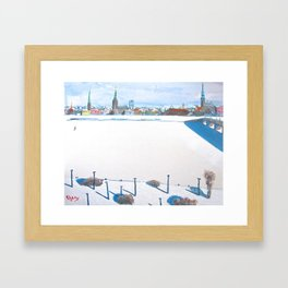 Frozen Rīga II Framed Art Print