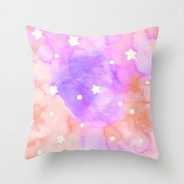 Starry Sky Raspberry Milkshake Throw Pillow