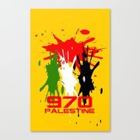 palestine Canvas Prints featuring Palestine Code by Maxvtis