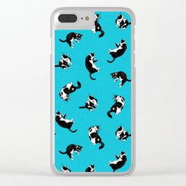 Flipping Cats! Clear iPhone Case