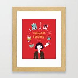 Amélie Poulain Framed Art Print