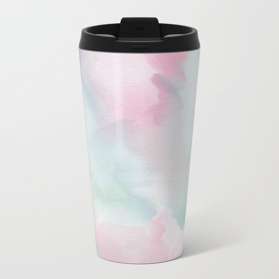 Abstract watercolor Metal Travel Mug