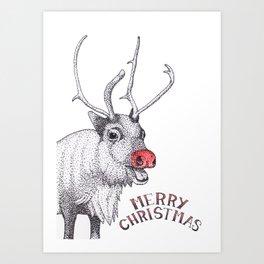 Rudolph Christmas Card Art Print
