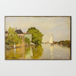 Houses on The Achterzaan Canvas Print