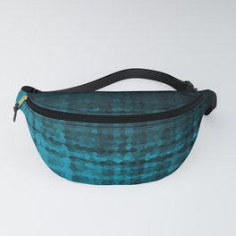 Black blue mosaic Fanny Pack
