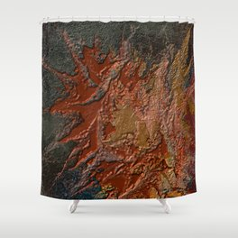 Fiery Silence Shower Curtain