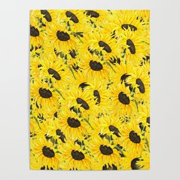 sunflower pattern 2018 1 Poster