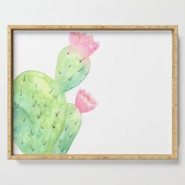 Watercolor Cactus   Buy Watercolor Art   Society 6 Serving Tray