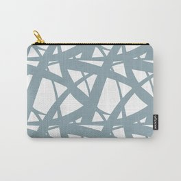 Pale Blue & White Abstract Mosaic Pattern 3 Pairs to Clare's 2020 Color of The Year Good Jeans Carry-All Pouch