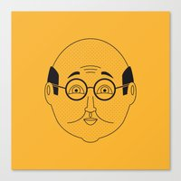 sam smith Canvas Prints featuring Sam by Refresh Your Guess Who!