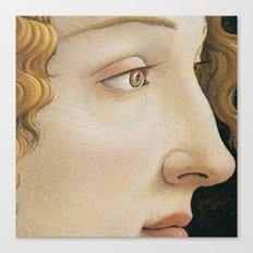 Botticelli c 1480 Portrait of Simonetta Vespucci detail Canvas Print