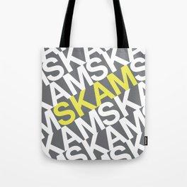 SKAM yellow/white logo Tote Bag