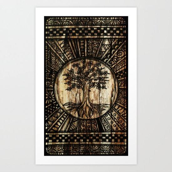 Tree Pattern Art Print