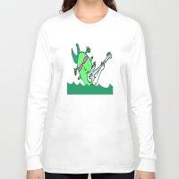 aquaman Long Sleeve T-shirts featuring aquaman  by Davey Charles