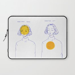Sometimes Here, Sometimes Not Laptop Sleeve