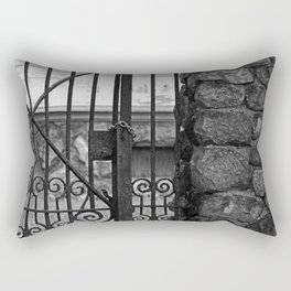 Old West End Edward D Libbey House's Gate Rectangular Pillow