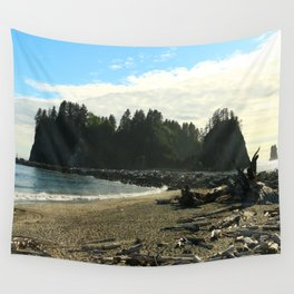 Driftwood on La Push Beach Wall Tapestry