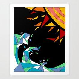 Sun and Wave Art Print