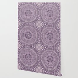 Purple feather mandala Wallpaper