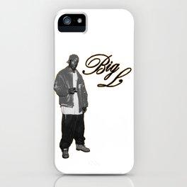 Big L //Black&White iPhone Case