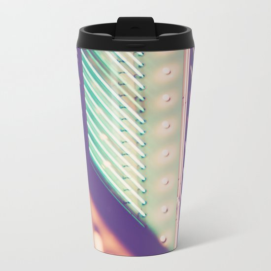 Turquoise Neon Metal Travel Mug