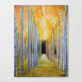 Trees' Path Canvas Print