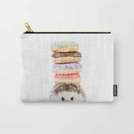 Hedgehog Donuts Carry-All Pouch