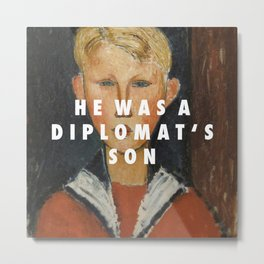 Blue-eyed Diplomat Metal Print