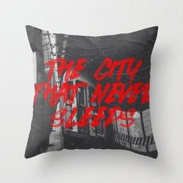 city that never sleeps Throw Pillow