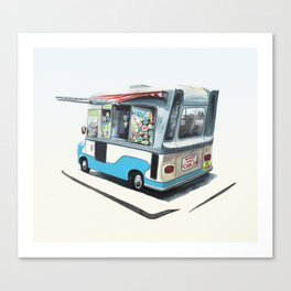 Ice Cream Van. Richmond upon Thames Canvas Print