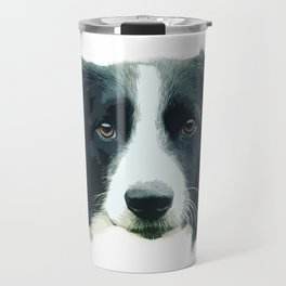 Ruka the Border Collie Travel Mug