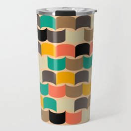 Retro abstract pattern Travel Mug