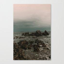 Dark Blue Rocky Ocean Canvas Print