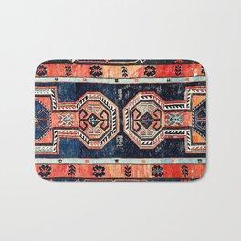 Davagin  Antique Daghestan East Caucasus Kilim Print Bath Mat