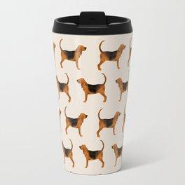 Bloodhound dog breed dog pattern pet friendly pet portraits custom dog gifts Travel Mug
