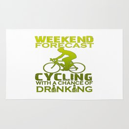 WEEKEND FORECAST CYCLING Rug