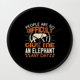 Elephant Quote - 35 Wall Clock