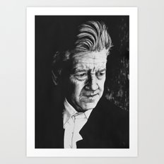 Portrait of David Lynch Art Print
