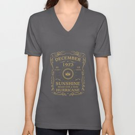 December 1973 Sunshine mixed Hurricane Unisex V-Neck