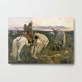 """""""The Knight at the Crossroads"""" by Victor Vasnetsov Metal Print"""