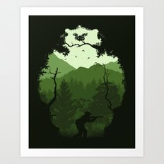 Hunting Season - Green Art Print