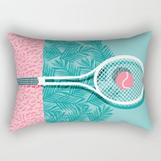 Good to go - memphis throwback 1980s neon pastel abstract sports tennis racquetball athlete game  Rectangular Pillow