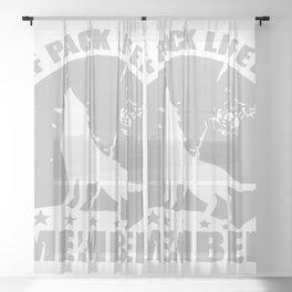 Wolf Pack Lifetime Member Sheer Curtain