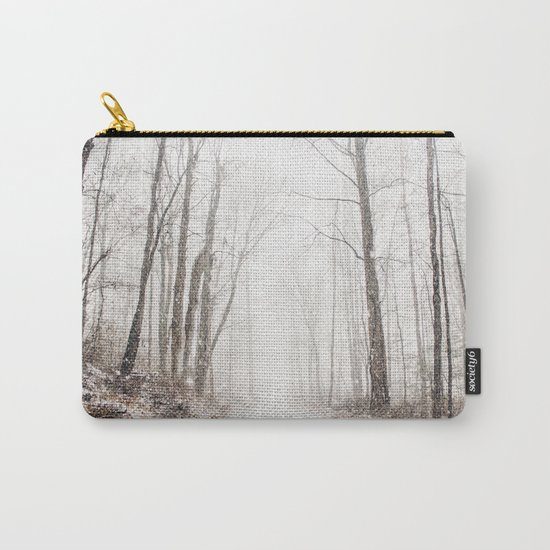 Winter path #photography #society6 Carry-All Pouch