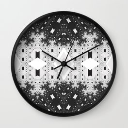 Indienous Fractal Wall Clock