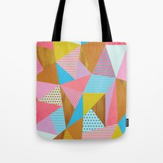 Wooden Colorful Tote Bag