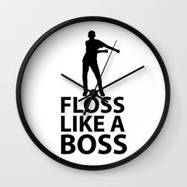 Floss Black Dancing Wall Clock