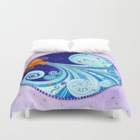 aquarius Duvet Covers featuring Aquarius by Sandra Nascimento