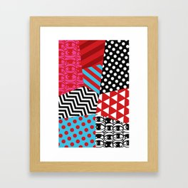 pattern bonanza Framed Art Print