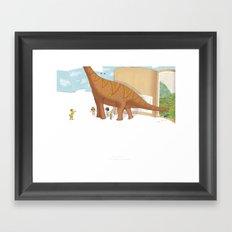 Book Dinossaur Framed Art Print